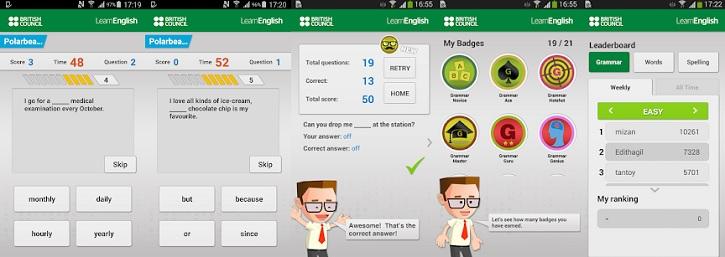 Johnny Grammar's Word Challenge - приложение для изучения английского языка
