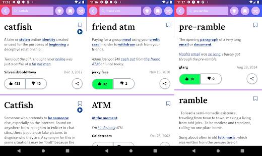 Urban dictionary - приложение для изучения английского языка